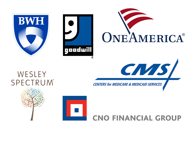 Previous clients Brigham and Young Goodwill OneAmerica Wesley Spectrum CNO CMS