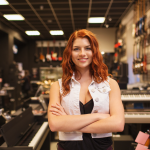 employee at music store